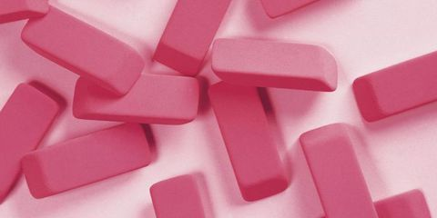pink rubber erasers